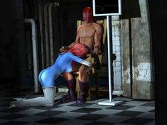 3D dibujos animados Mystique consigue follada duro por Magneto. Mandíbula cayendo 3D dibujos animados nena Mystique chupa polla antes de ser follada duro por Magneto