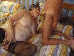 Señora de edad y sexo anal