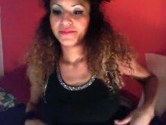 Ángel cámara web árabe exótica chica árabe oscurezca y sexy masturbándose
