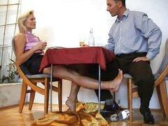 handjob under table