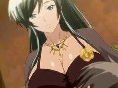Anime milf con tetas lechosas