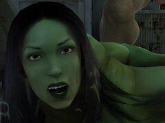 Dibujos animados 3D chica mutante se la follan duro al aire libre