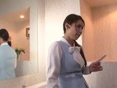 Impresionante chick Japon Mayuka Okada en fabulosas corridas, película Handjobs JAV