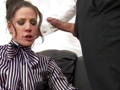 Submisive babe Anita facial