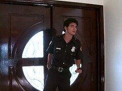 El guardia de seguridad de trabajo