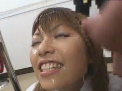 delgada Japón mujer doc increíble sexo en grupo y Bukkake