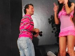 Lucky dude fucks them all. Lucky guy gets fucked by a group of smoking hot girls