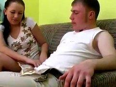 Pareja adolescente rusa follada