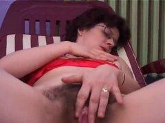 Peludas maduras, mujer madura con el coño peludo magnífico sexo y corridas