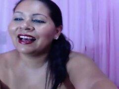 Colombiana Puta con gran culo Cummed en Webcam
