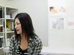 Fabulosa chica japonesa en fetiche increíble, película MILF JAV
