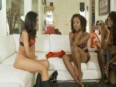 4 negro niñas lesbianas Orgias