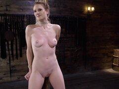 Perky pálido adolescente Ashley Lane atado y sodomizado en una mazmorra-Ashley Lane