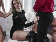 The Job Sn 7 Insane orgy with Luna Star and friends