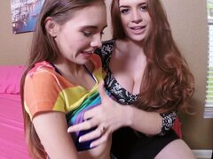 Husband and wife team have a threesome with the babysitter - Skye West, Veronica Vain