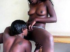 Belleza africana lenguas a cachonda novia negra en esta