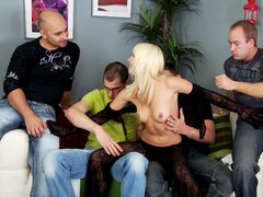 Lena never thought that she'd see so many cocks at the same time! - Lena Cova