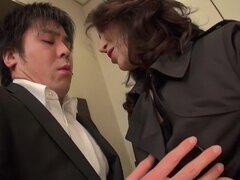 Exótica japonesa puta Marina Matsumoto en JAV caliente clip de ropa interior sin censura,