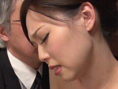 Increíble japonesa puta Misaki Yoshimura en JAV exótica película DildosToys sin censura