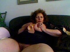 Grande madura en la Webcam R20