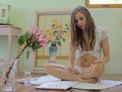 Exótica pornstar Avril Sun en increíble pelirroja, clip adulto de tetas pequeñas,