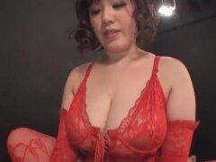 Puta japonesa caliente de tetas grandes increíbles, película de BBW JAV