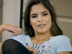Sexy Latina called Katya is getting dicked in the various positions - Katya Rodriguez