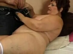 Gorda abuela Anal