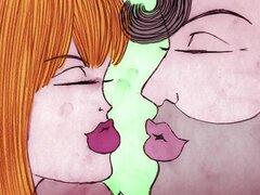 Desnudo amor - dibujos animados con coño comer acción para Busty Babe