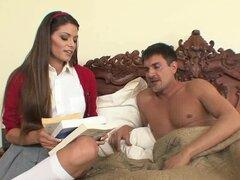 Fake tetas belleza en minifalda plisada quiere follar - Madelyn Marie, Michael Stefano