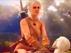 El Witcher Triss y Ciri follando con los jugadores