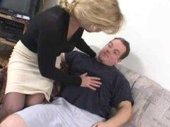 Blonde Russian MILF Mia Ivanova Sucks Dick