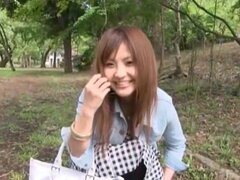 Las chick japonesa Kanna Harumi en pareja loco, video de medias JAV