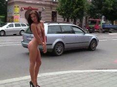 Desnuda Michelle Checa en calles
