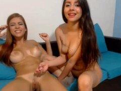 Hot teen webcam lesbianas diversión tiempo Parte2