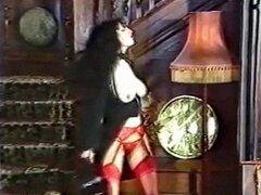 NÚMERO de la suerte - vintage goth en medias baila y coquetea