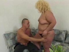 Caliente gorda gigante ensuciarse con su BF