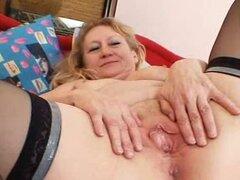 Masturbación y kinky old puss grannie separarse
