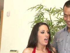 Más caliente estrellas porno Annie Cruz, Missy Maze, Kortney Kane en sexo en grupo loco, escena porno de la pelirroja,