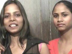Lesbiana Babes indio Nisha y Sheetal