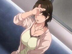 Mamá tetona hentai japonesa caliente gangbanged