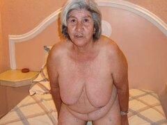 Vieja abuela amateur latina con tetas grandes y culo grande