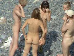 Escena bastante voyeur nudistas impresionantes