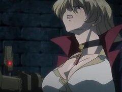 Atado para arriba anime esclava rubia recibiendo sus tetas bromas