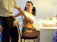 Coleta ruso escuela de chica su antiguo privado Constitución Teac. Rusa flexible escuela chica su profesor particular vieja Constitución