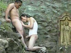 Ladyboy aisan caliente divertirse con su pareja