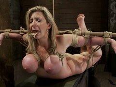 Sara Jay la rubia tetona MILF obtiene sus tetas torturadas - Isis Love, Sara Jay