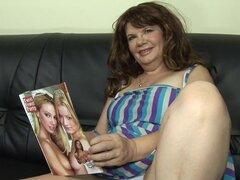 Slutty grueso peludo euro amateur madura en mi casting porno