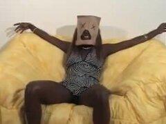 Bolsa y mordaza negra ébano corridas ébano tragan interracial africano ghetto bbc