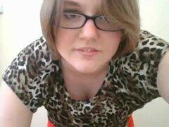 Amateur chica Webcam gordita en bragas rojas